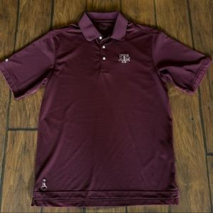 Men's Texas A&M polo golf shirt by PING.  Size M